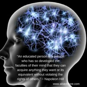Alt=An educated person is one who has developed the faculties of the mind