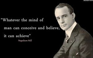 Alt=Napoleon Hill Think and grow rich deals with struggle through life